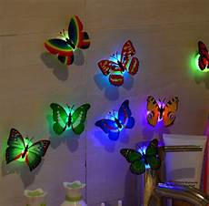 10pcs 3d butterfly led lights wall decor walling shop