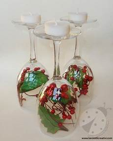 bicchieri per candele a un passo da te candele centrotavola per natale