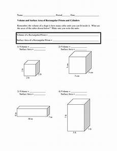 lesson 6 homework practice surface area of prisms answers