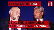 15 Octobre 1993 Mandela Et De Klerk Prix Nobel De La
