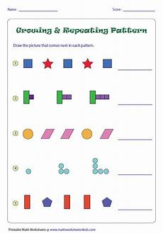 worksheets on shapes and patterns for grade 5 517 pattern worksheets