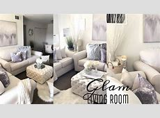 GLAM LIVING ROOM DECORATING IDEAS   GRAY Accessories   YouTube