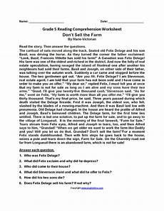 reading worksheets fifth grade reading worksheets