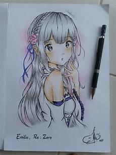 27 Gambar Anime Keren Dari Pensil Arka Gambar