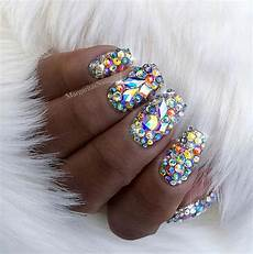 41 elegant nail designs with rhinestones page 2 of 4