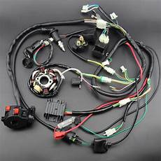 go kart gy6 wiring harness buggy wiring harness loom gy6 engine 125 150cc atv electric start stator 8 coil ngk spark