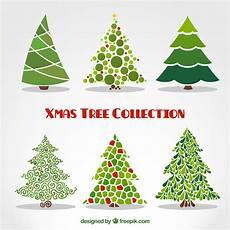 abstrakte weihnachtsb 228 ume sammlung kostenlose vektor