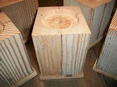 set 4 large oversize 6 quot furniture risers for bed leg blocks table lifters reclaimed wood of