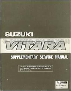 car service manuals pdf 1995 suzuki sidekick auto manual 1994 1995 suzuki vitara repair shop manual supplement original