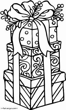 printable gifts coloring pages for