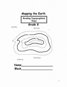 earth science contour lines worksheet 13330 mapping the earth mr ruggiero s science 8 2