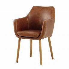 vintage armchair in brown davis maisons du monde
