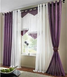 lila gardinen 1 st gardine vorhang 140 x 225 lila bestickt kr 196 uselband