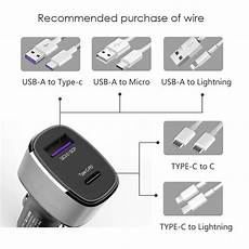 Bakeey 20cm Type Fast Charging Line by Bakeey 36w Dual Port Type C Pd Fast Charging Usb Car