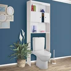 meuble 233 tag 232 re dessus wc bois coloris blanc meubles et