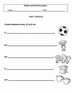 grammar worksheet for grade 1 25174 grammar is am are for grade 1 by charu gupta tpt