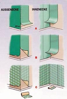 ecke tapezieren vliestapete hochwertige baustoffe tapezieren ecken