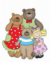 Image result for Goldilocks and the Three Bears Clip Art