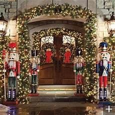 Lit Outdoor Decorations by Classic Outdoor Pre Lit Garland Traditional Wreaths