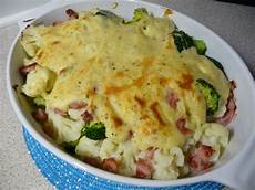 brokkoli schinken auflauf blumenkohl brokkoli auflauf mit schinken rezept mit