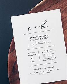 minimalist black and white lettered wedding