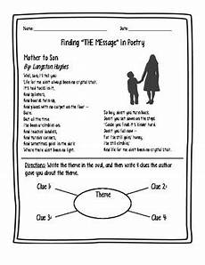 poetry theme worksheets 25363 finding theme in poetry langston hughes by thehipsterhandouts tpt