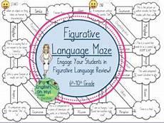 grammar maze worksheets 24882 figurative language maze review activity engaging figurative language language classroom