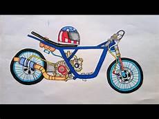 Gambar Kartun Motor Drag Mio Rosaemente