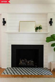 Before And After This Dim Living Room Fireplace