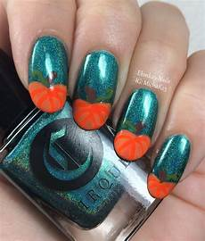 ehmkay nails pumpkin tips nail art with cirque colors la