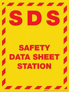 sds safety data sheet station wall sign creative safety supply
