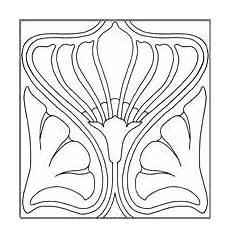 pattern from an nouveau tile jugendstil kachel from