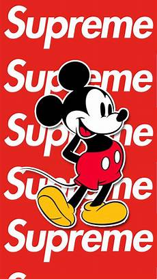 Mickey Mouse Wallpaper Supreme by Mickey Mouse Supreme Wallpapers Wallpaper Cave