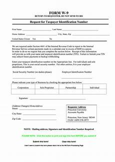 fillable form w 9 request for taxpayer identification