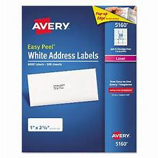 avery 5160 lables avery 174 5160 easy peel address labels laser 1 2 5 8 white 6 000 labels sam s club