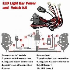 On Led Light Wiring by 12v 40a Led Hid Fog Spot Work Driving Light Wiring Loom