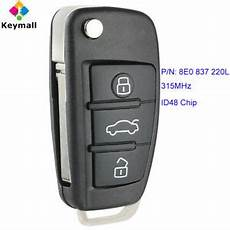 for audi a4 s4 2006 2010 upgraded remote key fob 315mhz id48 p n 8e0 837 220l ebay