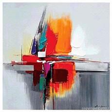 modeles peintures abstraites tableau gris orange bleu abstrait peinture abstraite sur