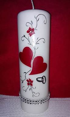 Hochzeitskerze Selber Gestalten - hochzeitskerze rot silber edel kerze zur hochzeit mit