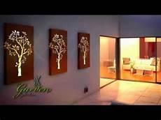 metal wall art garden light box youtube