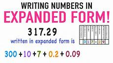 how to write numbers in expanded form with decimals youtube