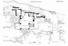 frank lloyd wright waterfall house plans fallingwatermainfloorplan design e architettura