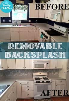 Removable Kitchen Backsplash The Daily Diyer Removable Back Splash