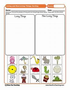 sorting living things worksheets 7894 living things and non living things sorting worksheet teaching