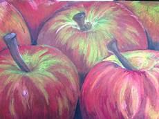 Malvorlagen Apfel Pastel Pastel On Black Paper Apfel Kunst Kunst F 252 R Kinder