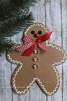 weihnachtsbasteln mit kindern pappkarton lebkuchenmann
