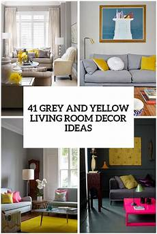 Yellow And Gray Decor