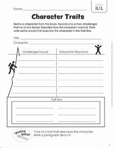 print character worksheets 19313 character traits leveled reading k l guided reading response printable graphic organizers