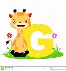 Animal Alphabet G Stock Vector Illustration Of Artistic