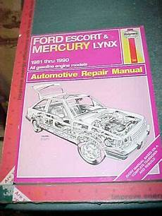 free service manuals online 1990 ford mustang navigation system 1981 thru 1990 ford escort mercury lynx haynes repair manual xlnt 38345007897 ebay